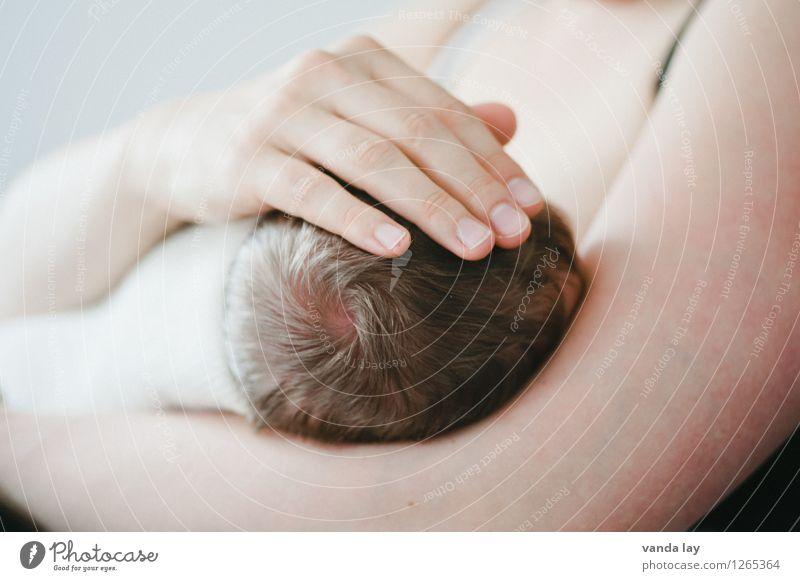 Precious II Kind Baby Eltern Erwachsene Familie & Verwandtschaft Kindheit Kopf Haare & Frisuren Hand 0-12 Monate Vertrauen Sicherheit Schutz Geborgenheit