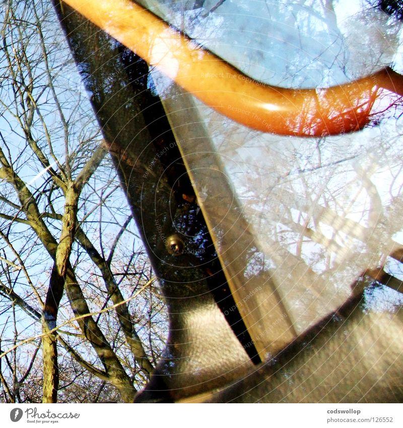 haltebetriebsart Griff Bagger Baum Traktor Reflexion & Spiegelung Fenster Straßenhaftung Arbeit & Erwerbstätigkeit edel Verkehr tree Gerät digger Bus fahrerhaus