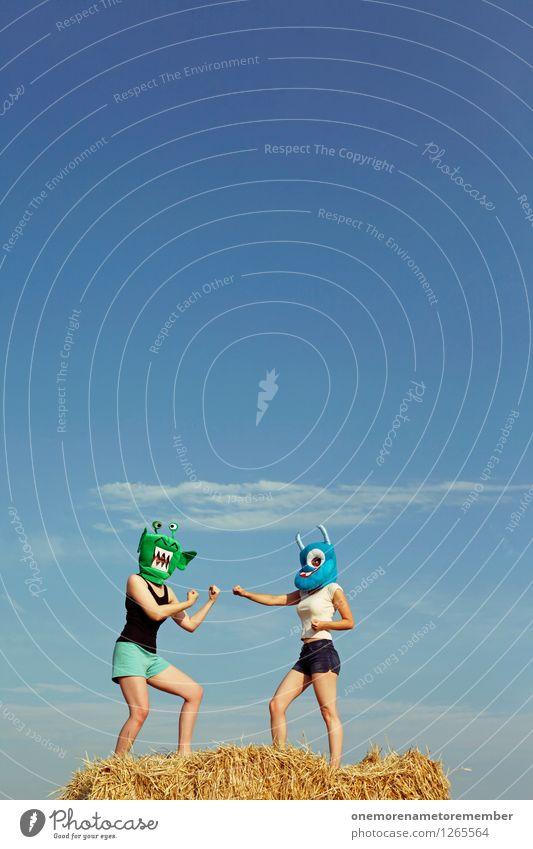 Fight! Kunst Kunstwerk ästhetisch Kampfsport kämpfen kampfstark Kampfgeist Kampfstellung Kampfpause 2 Außerirdischer Monster Boxkampf Duell Konflikt & Streit