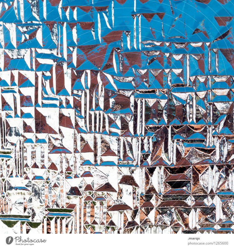 Strukturiert blau Farbe weiß Hintergrundbild Stil außergewöhnlich Design Glas verrückt einzigartig Coolness trendy eckig chaotisch Surrealismus