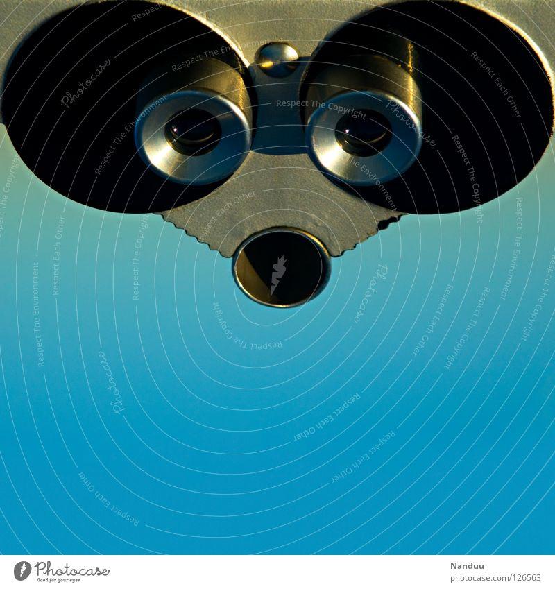 RoboMaus Himmel blau Auge grau Metall Nase Industrie süß Technik & Technologie rund Aussicht Ohr beobachten niedlich