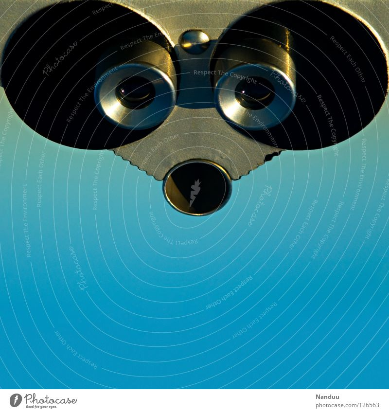 RoboMaus Roboter Eisen graphisch abstrakt entgegengesetzt Aussicht Teleskop Fernglas Verlauf grau rund eckig süß niedlich Künstliche Intelligenz beobachten