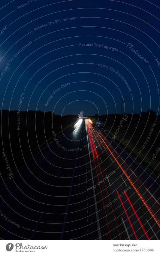 A9 bindlacher berg dunkel Straße Arbeit & Erwerbstätigkeit träumen PKW Verkehr Güterverkehr & Logistik fahren Beruf Verkehrswege Autobahn Personenverkehr