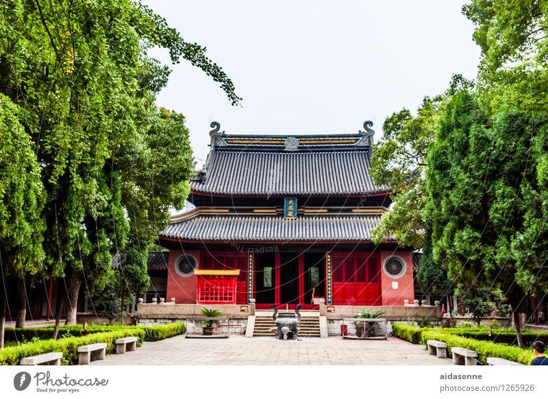 Tempel in Jiangyin Stadt Menschenleer Gebäude Sehenswürdigkeit Zufriedenheit Lebensfreude achtsam Vorsicht Gelassenheit ruhig Buddhismus China Jiangsu jiangyin