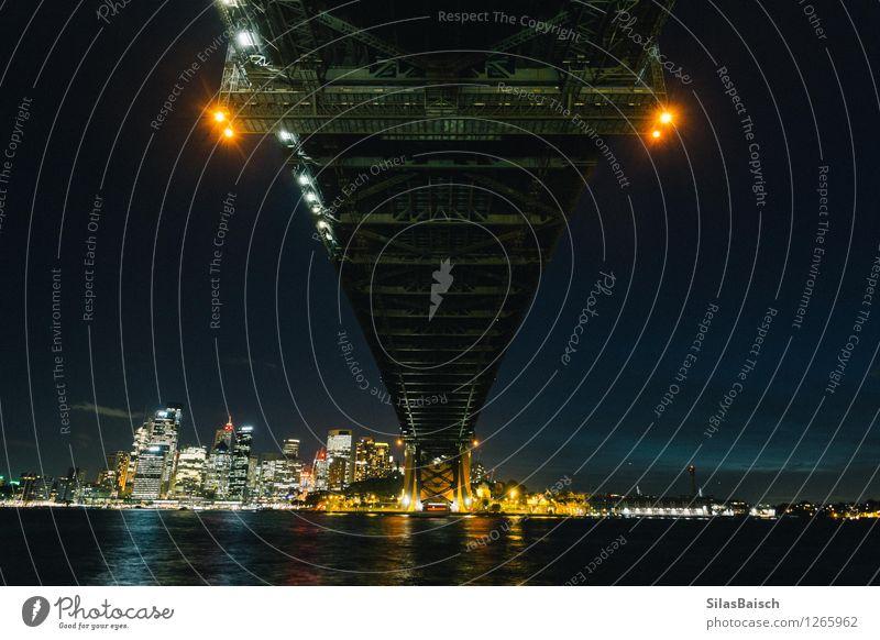Sydney Habour Bridge bei Nacht Lifestyle Ferien & Urlaub & Reisen Tourismus Ausflug Freiheit Sightseeing Städtereise Kreuzfahrt Häusliches Leben Wellen Küste