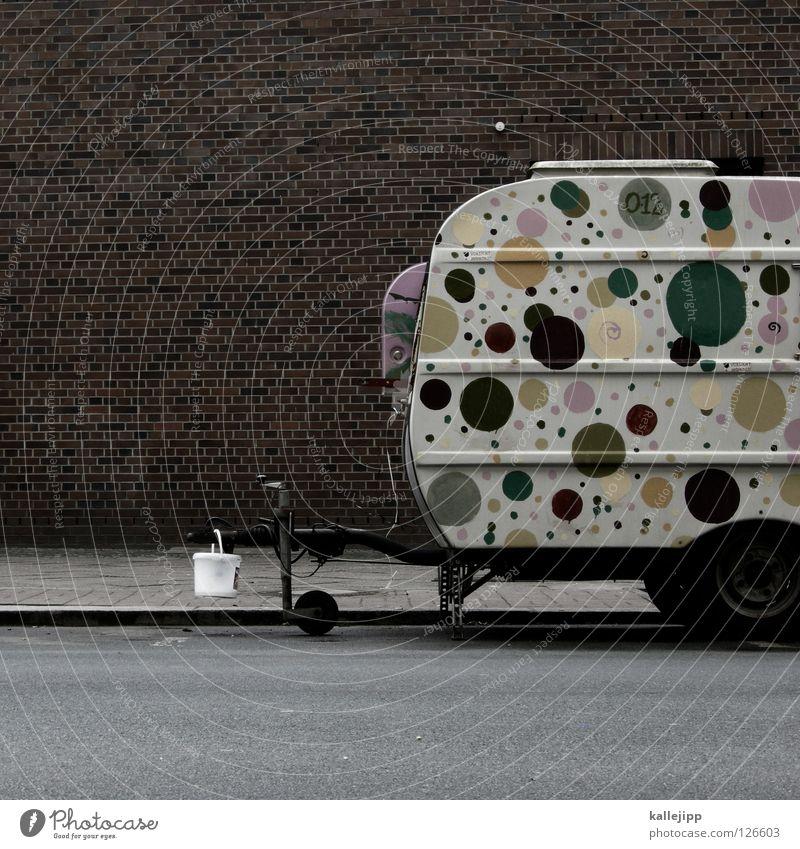 pünktchen macht urlaub bei anton Wohnwagen Camping Ferien & Urlaub & Reisen Punkt Muster Wagen Freizeit & Hobby Lifestyle live Platz Parkplatz Eimer Kupplung