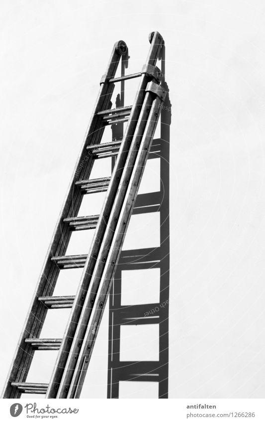 Sommersprossen Arbeit & Erwerbstätigkeit Beruf Handwerker Anstreicher Arbeitsplatz Baustelle Umwelt Schönes Wetter Haus Mauer Wand Fassade Metall Linie Leiter