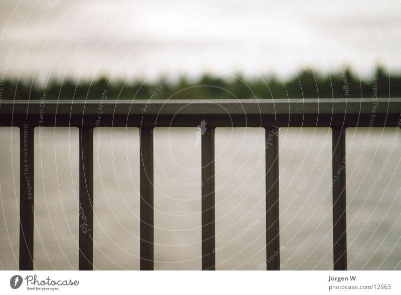 Geländer Unschärfe Gitter Dinge Brücke Rhein Fluss Wasser Bridge Railing River Water