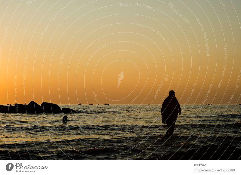 dem Meer entsteigend Ferien & Urlaub & Reisen Sommer Landschaft Schwimmen & Baden ästhetisch Italien Apulien