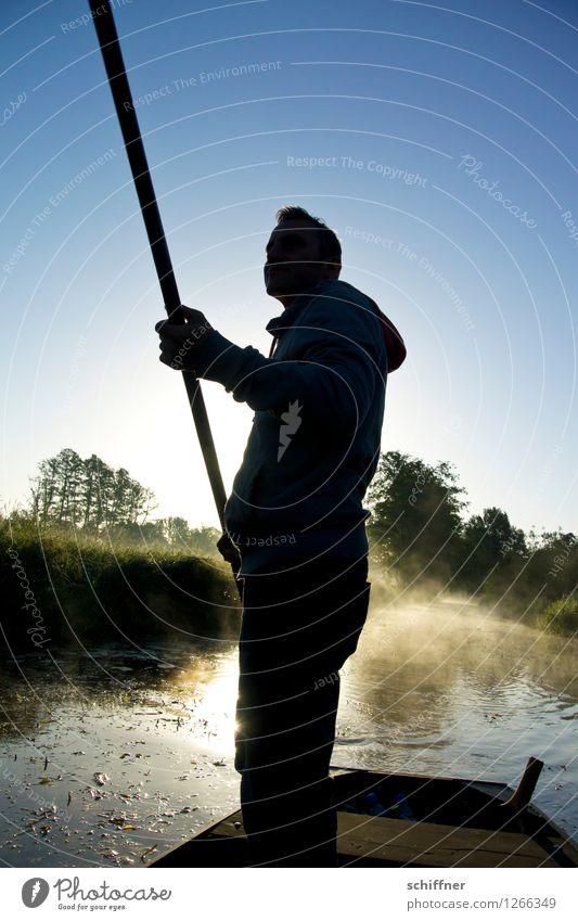 Spreedorado | The long end maskulin Junger Mann Jugendliche Erwachsene 1 Mensch Umwelt Natur Landschaft Pflanze Schönes Wetter Baum Gras Sträucher Flussufer