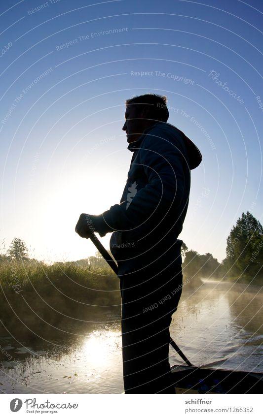 Spreedorado | inne halten maskulin Junger Mann Jugendliche Erwachsene 1 Mensch 30-45 Jahre Umwelt Natur Landschaft Pflanze Wasser Sonne Sonnenaufgang