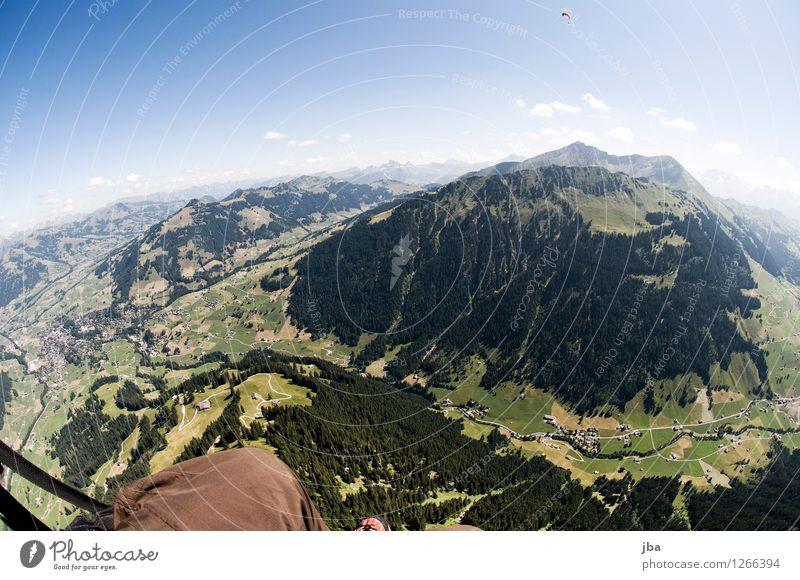 Wasserngrat Himmel Sommer Erholung Landschaft ruhig Ferne Wald Berge u. Gebirge Sport Freiheit fliegen Lifestyle Horizont Zufriedenheit Freizeit & Hobby Luft