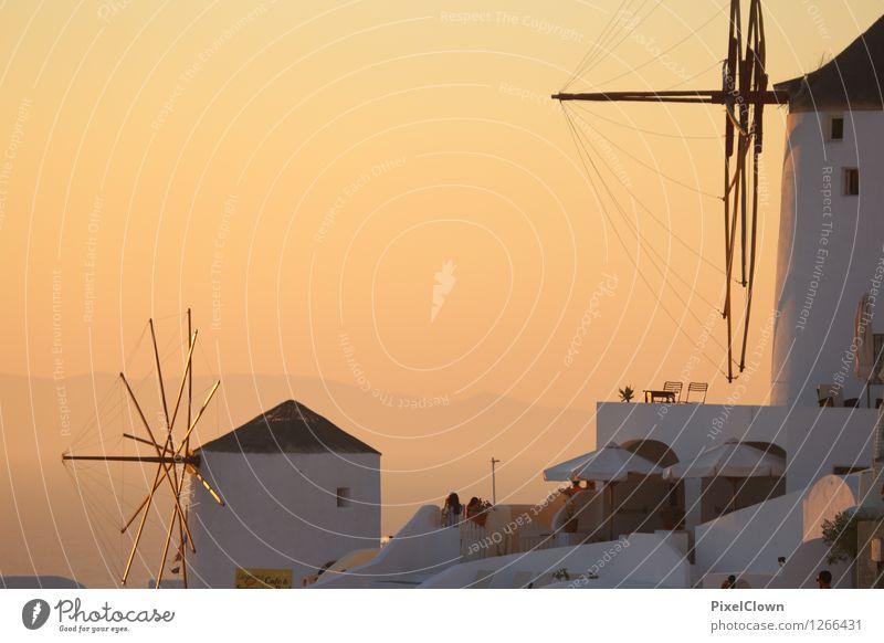 Santorin Ferien & Urlaub & Reisen Sommer Meer Landschaft Strand Gefühle Lifestyle Stimmung Kunst orange träumen Tourismus ästhetisch Insel Wellness Wahrzeichen