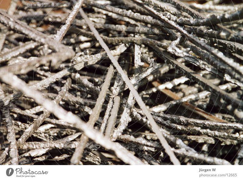 Kreuz und Quer Metall Industrie Müll Stahl chaotisch Rest Schrott Schweißen
