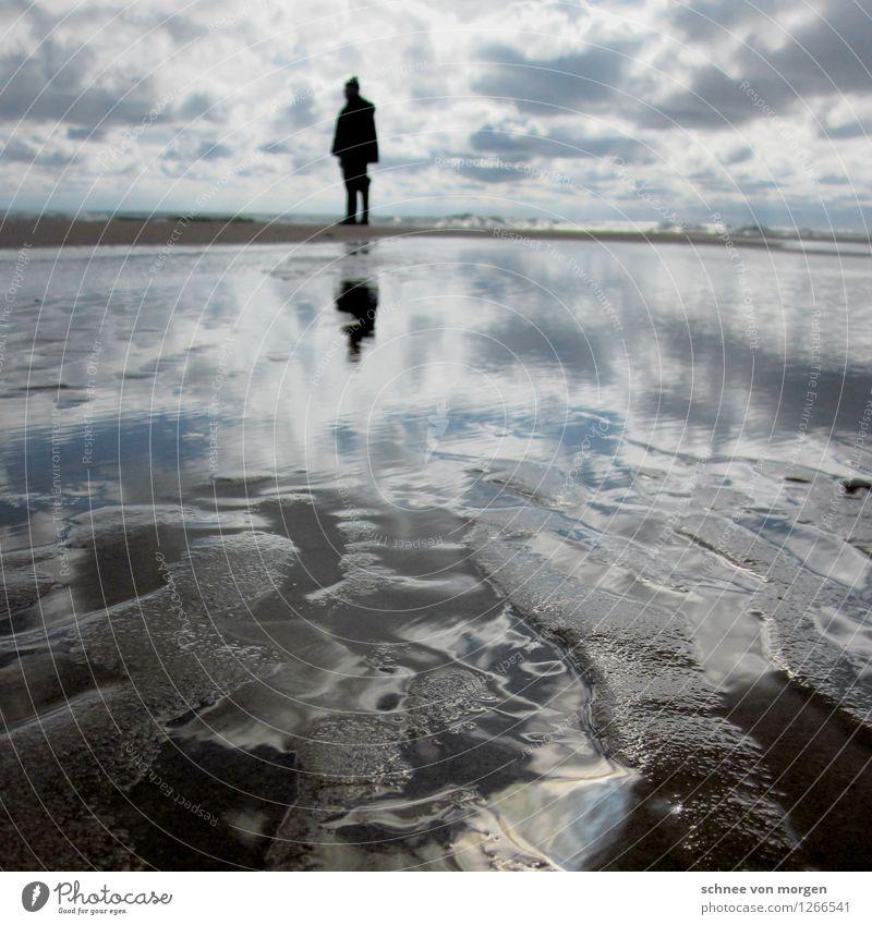 unendliches Meer Mensch maskulin 1 Umwelt Natur Landschaft Pflanze Erde Wasser Sonne Herbst Klima Wetter Wind Sturm Wellen Küste Insel Portugal Dorf Fischerdorf