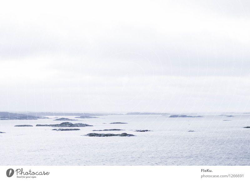 Welcome to Sweden Ausflug Ferne Kreuzfahrt Umwelt Natur Landschaft Urelemente Erde Wasser Himmel Wolken Horizont schlechtes Wetter Nebel Wellen Küste Bucht