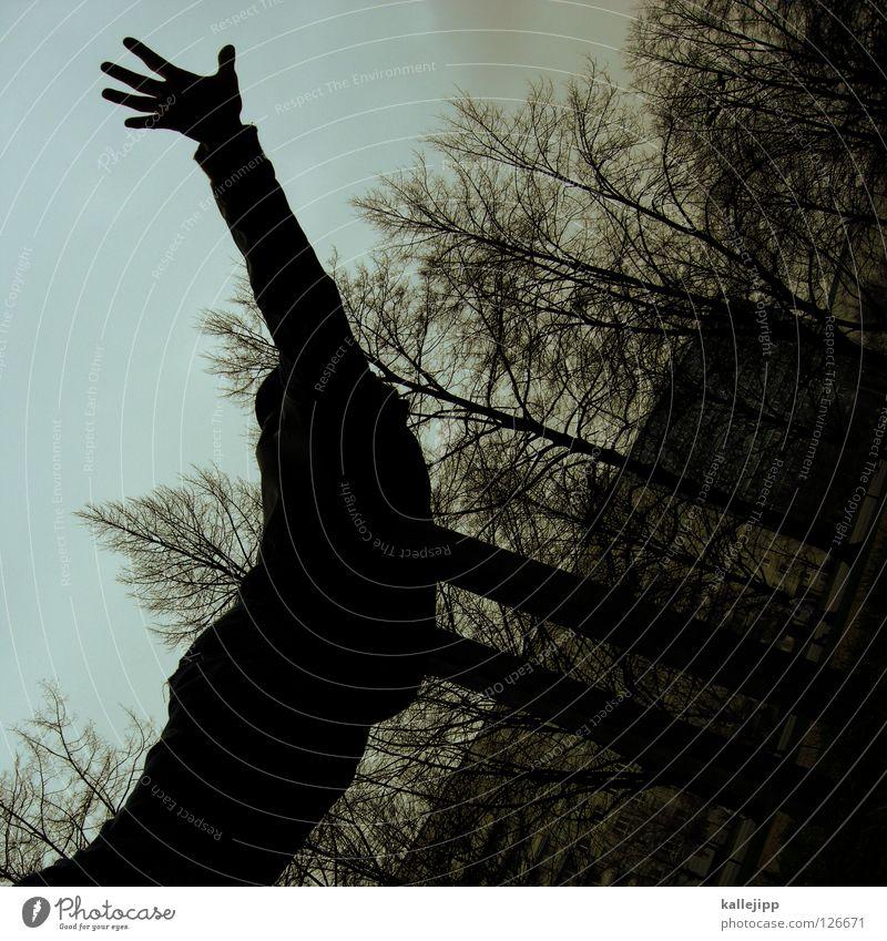 flugstunde Mann Silhouette Dieb Krimineller Rampe Laderampe Fußgänger Schacht Tunnel Untergrund Ausbruch Flucht umfallen Fenster Parkhaus Licht Geometrie