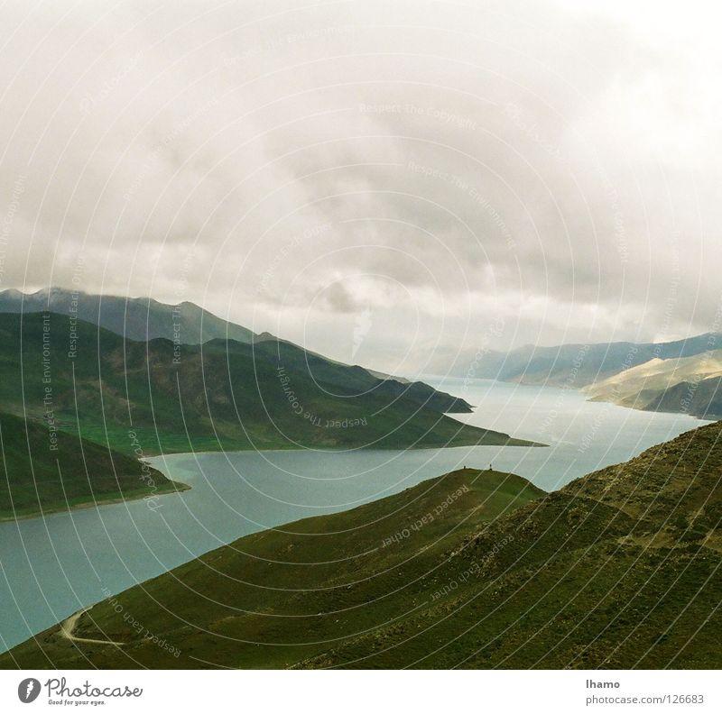 Blaue Oase II 1999 Hochebene Asien Bergkette Tibet entdecken wandern faszinierend Schifffahrt Berge u. Gebirge Niveau blau Kontrast lange Reise Passhöhe