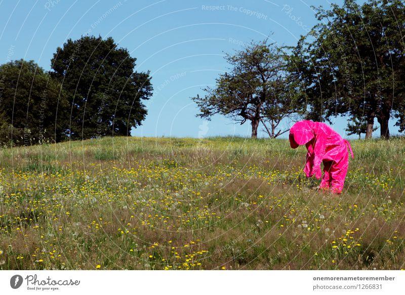 enttäuscht Baum Erholung ruhig Traurigkeit Wiese Kunst rosa ästhetisch niedlich Verzweiflung Kunstwerk Kostüm Karnevalskostüm Enttäuschung Schwäche fremd