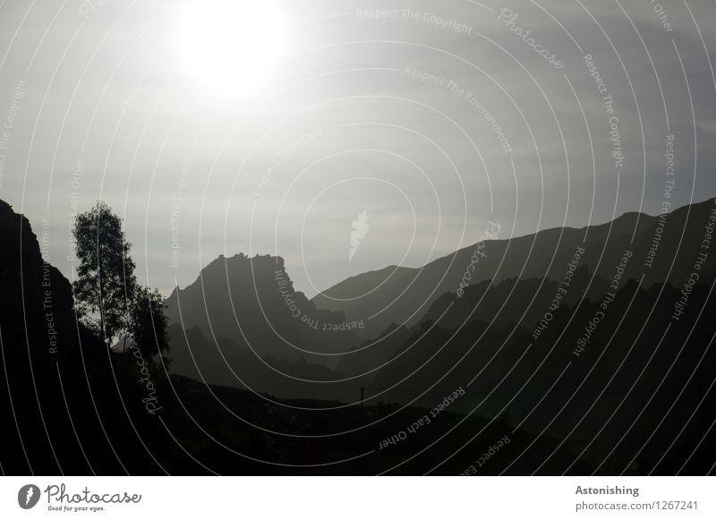 Schatten - geschichtet Umwelt Natur Landschaft Pflanze Luft Himmel Sonne Sonnenaufgang Sonnenuntergang Sonnenlicht Wetter Schönes Wetter Baum Hügel Felsen