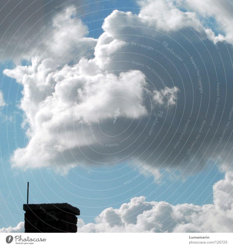 Frischluft Himmel Wolken klein hell Energiewirtschaft Wetter Luft frisch Klima Schönes Wetter Sauberkeit Freundlichkeit Schornstein kurz luftig Belüftung