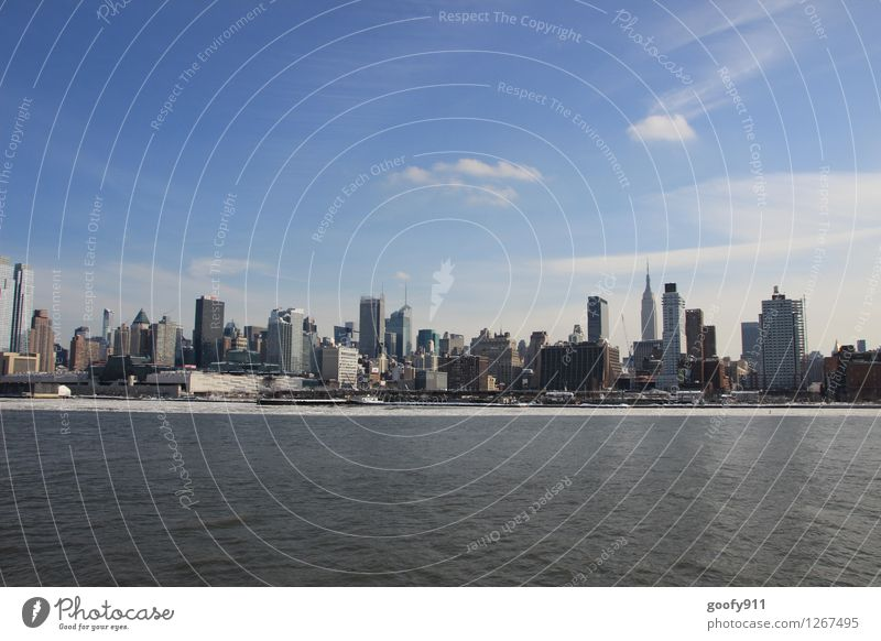 NEW YORK 3 Stadt Stadtzentrum Haus Hochhaus Gebäude Sehenswürdigkeit kalt blau grau Farbfoto Außenaufnahme Tag Panorama (Aussicht)