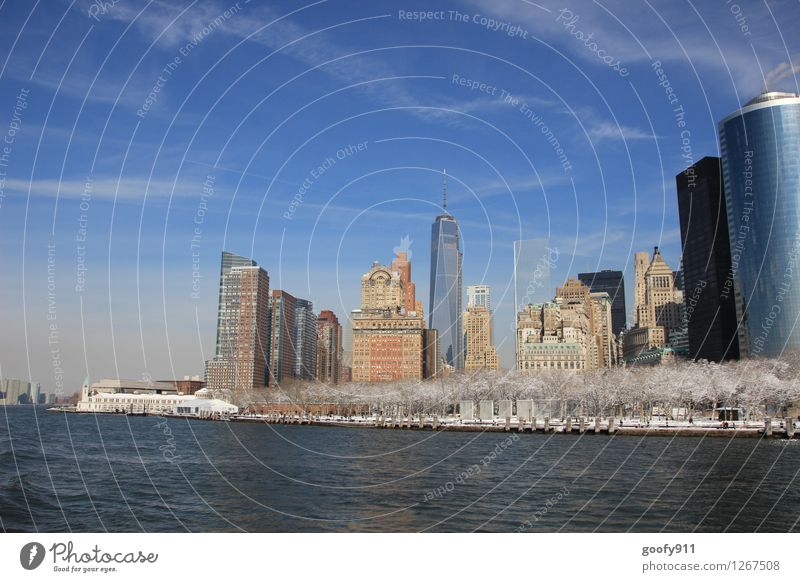 NEW YORK 4 Ferien & Urlaub & Reisen Stadt Haus kalt Skyline Stadtzentrum Sehenswürdigkeit New York City One World Trade Center
