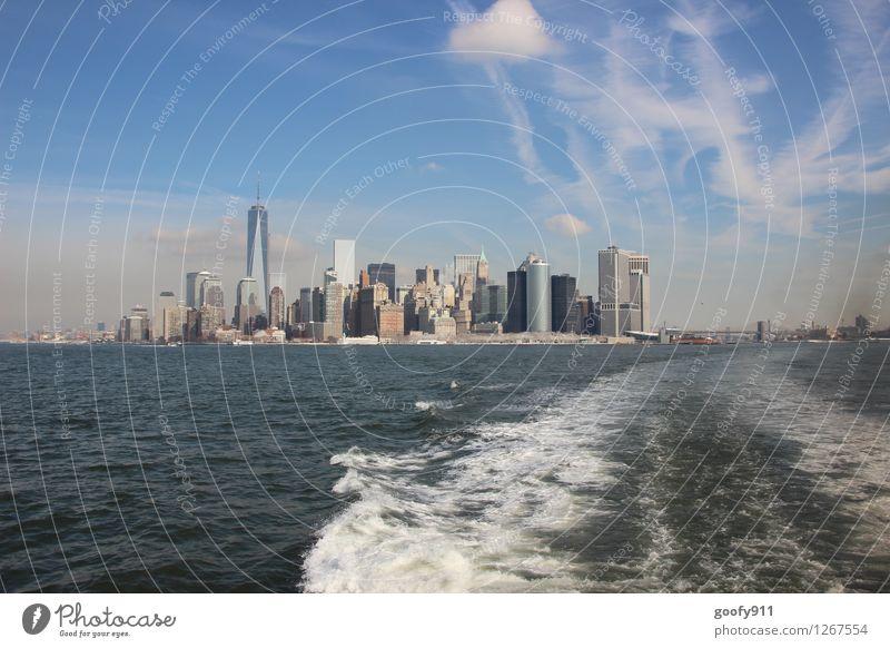 NEW YORK 7 New York City Stadt Stadtzentrum Skyline Haus Hochhaus Gebäude Sehenswürdigkeit One World Trade Center gigantisch groß Unendlichkeit blau grau