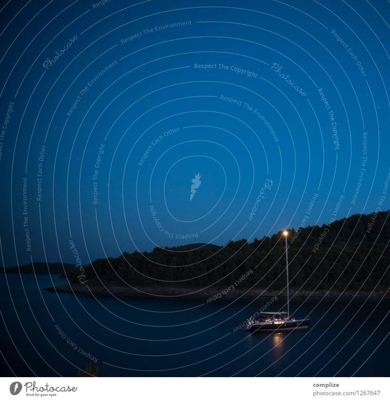 Übernachtung Ferien & Urlaub & Reisen Ausflug Sommer Sommerurlaub Strand Meer Insel Wellen Segeln Schifffahrt Bootsfahrt Segelboot Segelschiff schlafen blau
