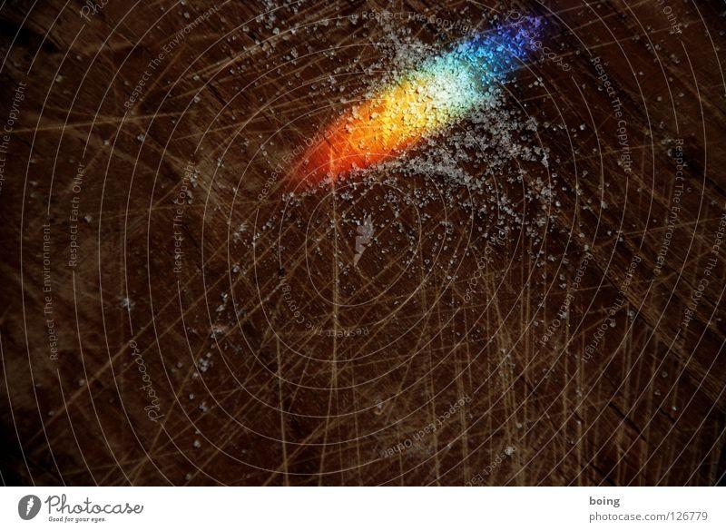 Licht im Schritt grün blau rot gelb Farbe Wassertropfen Hoffnung Sehnsucht Süßwaren Strahlung Symbole & Metaphern Schneidebrett Kristallstrukturen Regenbogen