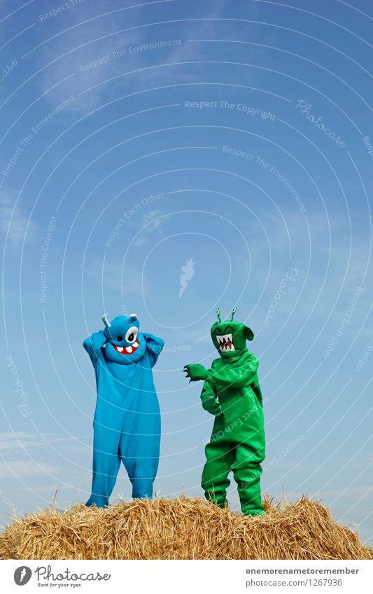 rhythm dancer blau grün Freude lustig Kunst Party ästhetisch verrückt Tanzen Surrealismus Kunstwerk Monster spaßig Partystimmung Spaßvogel Außerirdischer