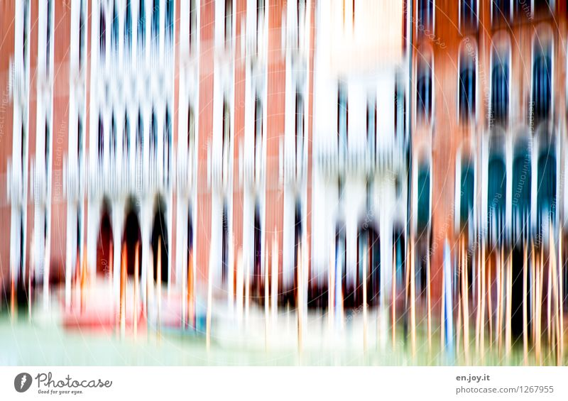 unruhiges Wasser Ferien & Urlaub & Reisen Stadt Haus Gebäude außergewöhnlich Fassade träumen Tourismus Fröhlichkeit Lebensfreude Italien Romantik Bauwerk