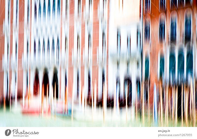 unruhiges Wasser Ferien & Urlaub & Reisen Tourismus Sightseeing Städtereise Sonnenbad Kanal Venedig Italien Stadt Altstadt Haus Bauwerk Gebäude Fassade