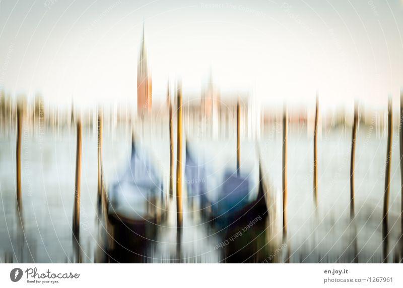 zwei Ferien & Urlaub & Reisen Tourismus Ausflug Sightseeing Städtereise Sommer Sommerurlaub Umwelt Himmel Frühling Herbst Winter Meer Adria Kanal Venedig