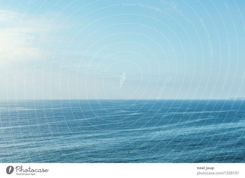 Blue Horizon -I- Ferne Freiheit Kreuzfahrt Sommerurlaub Meer Himmel Horizont Portugal träumen frei Unendlichkeit blau ruhig Fernweh Einsamkeit exotisch