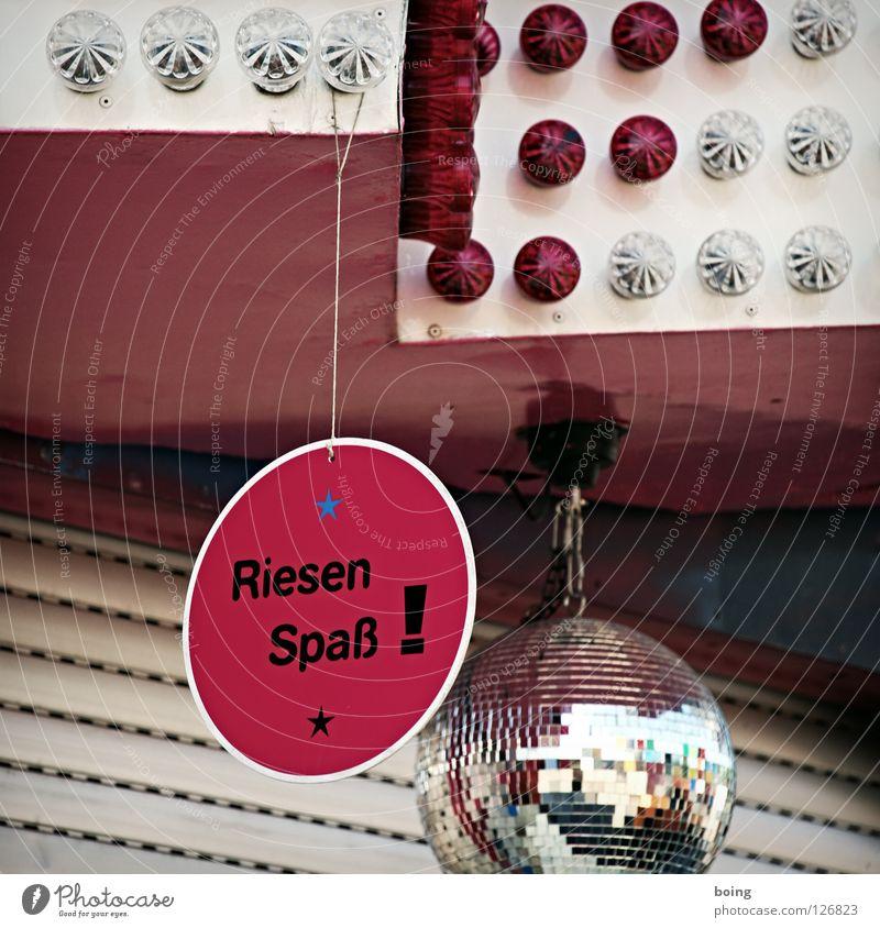 Riesen Spaß! Discokugel Leuchtreklame Las Vegas Attraktion Freude Oktoberfest Tolle Sache! Gute Laune! und Spaß für alle! Rollladen runterlassen