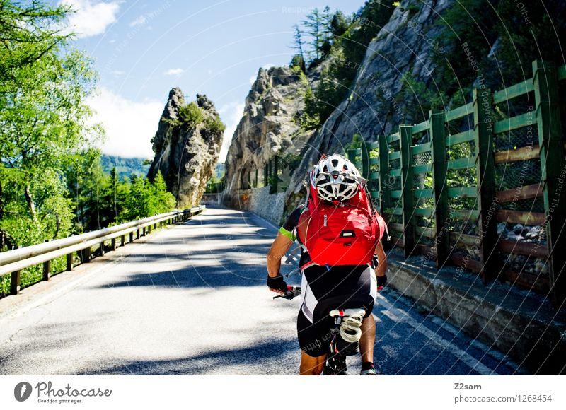 transalp Himmel Natur Ferien & Urlaub & Reisen Mann Sommer Erholung Landschaft Erwachsene Berge u. Gebirge Straße Sport Freiheit Felsen Freizeit & Hobby Idylle 45-60 Jahre