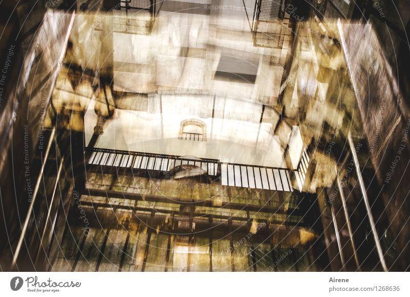 Zustand Industrie Architektur Industrieanlage Saline Lichtschacht Treppenhaus Geländer Fahrstuhl Lastenaufzug Industriedenkmal Arbeit & Erwerbstätigkeit alt