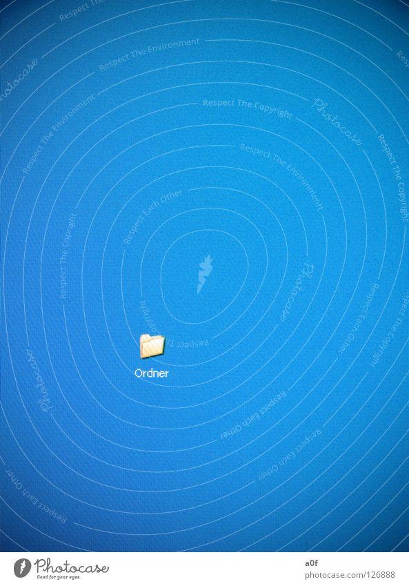 Ordner blau gelb Computer Medien Bildschirm Aktenordner sortieren Informationstechnologie Software