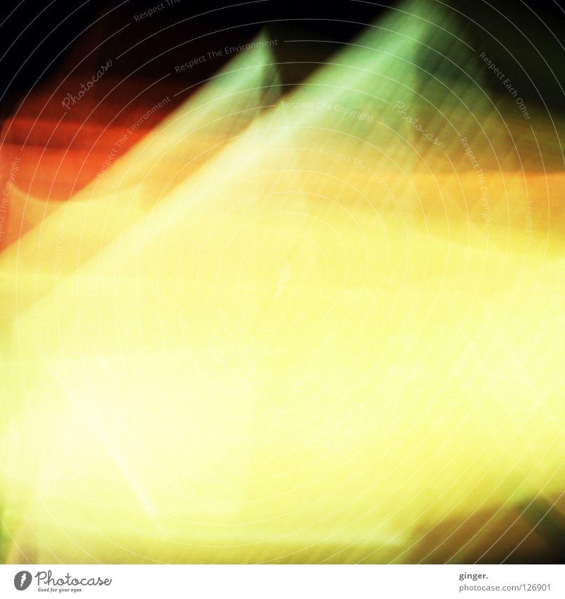 Farbenspiel 2 Bildschirm Bewegung gelb grün rot schwarz gewebt Bildschirmschoner zart flattern Unschärfe Bewegungsunschärfe abstrakt Lichterscheinung