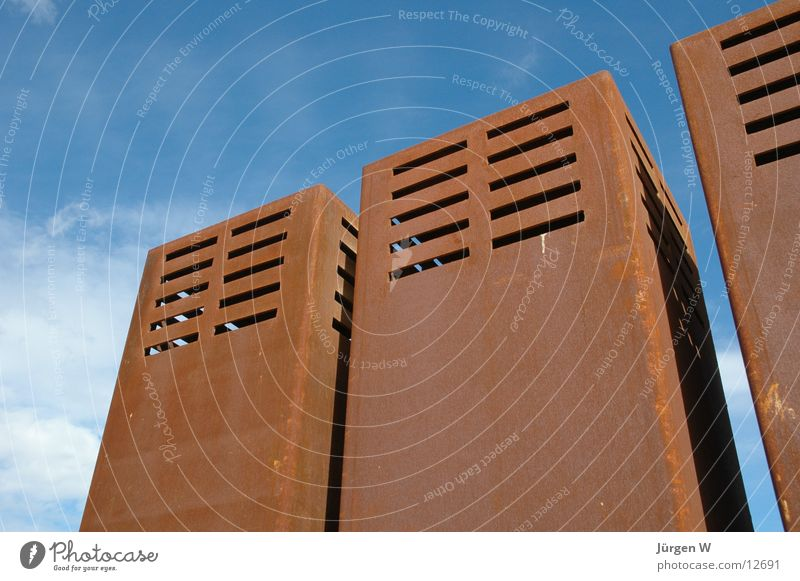 Rost Himmel blau Wolken braun Technik & Technologie Rost Rust Elektrisches Gerät
