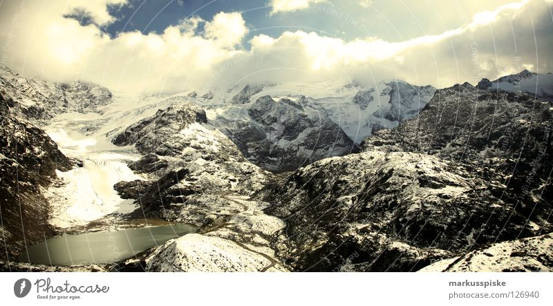 steingletscher am sustenpass, CH Wasser Ferien & Urlaub & Reisen Wolken Berge u. Gebirge Landschaft Wege & Pfade Stein See Eis Wetter Nebel wandern Felsen