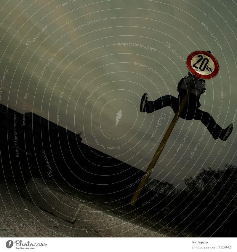 twen Mensch Himmel Hand Freude schwarz gelb Wege & Pfade Lampe Kunst Rücken Arme Schilder & Markierungen Erfolg Eisenbahn Suche Streifen