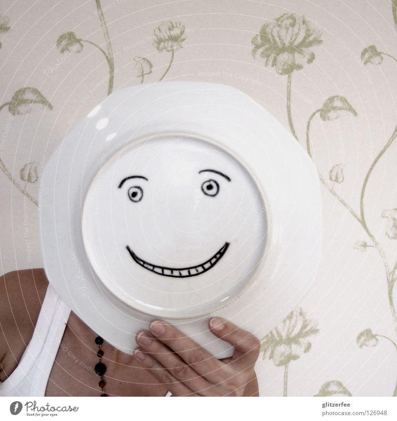 keep on smilin´ Hand schön Blume Freude Auge Glück lachen Mund gut Zähne Tapete Kette positiv Schulter grinsen Augenbraue