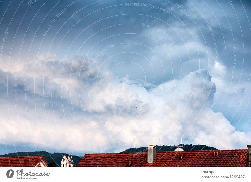 Bewölkt Himmel Natur Landschaft Wolken Umwelt Dach Urelemente Unwetter Klimawandel gigantisch Gewitterwolken Endzeitstimmung Naturgewalt