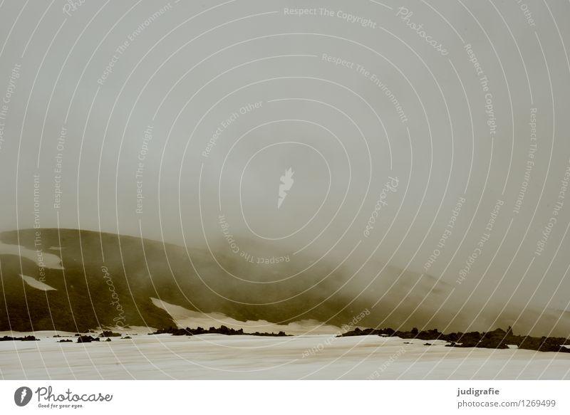 Island Umwelt Natur Landschaft Urelemente Erde Klima Wetter schlechtes Wetter Sturm Nebel Schnee Vulkan Leirhnjukur außergewöhnlich bedrohlich dunkel heiß kalt