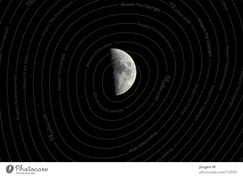 Halbmond schwarz dunkel Mond Vulkankrater