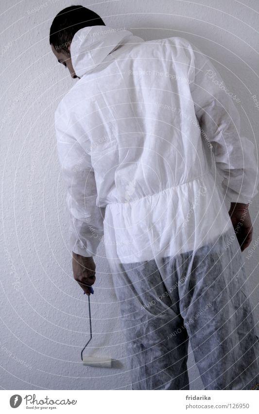streichlust 2 Mensch Mann Hand weiß Farbe Arbeit & Erwerbstätigkeit Wand Zufriedenheit Erwachsene Beginn neu Wandel & Veränderung Dekoration & Verzierung