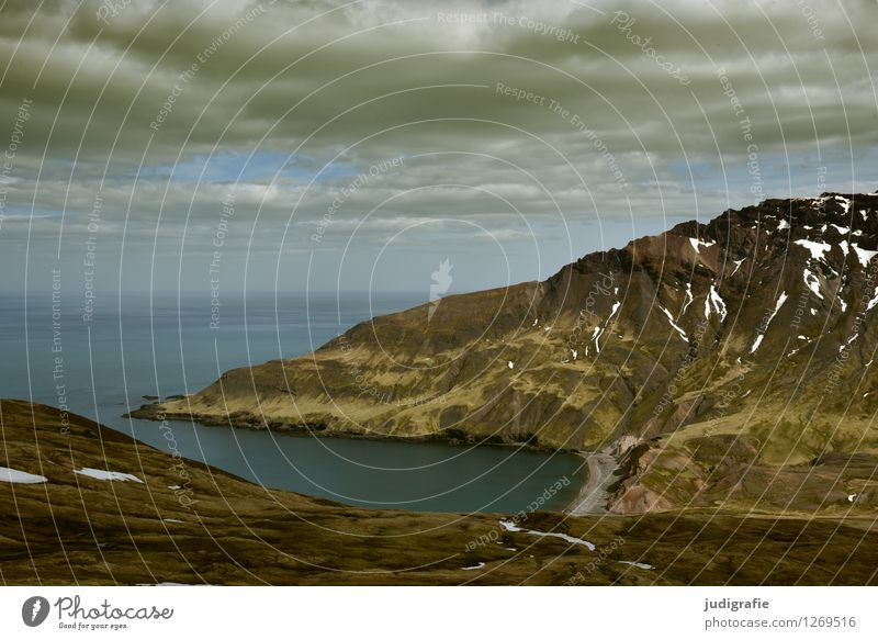 Island Himmel Natur schön Wasser Landschaft ruhig Wolken Ferne Berge u. Gebirge Umwelt natürlich Küste Stimmung Felsen wild Wetter