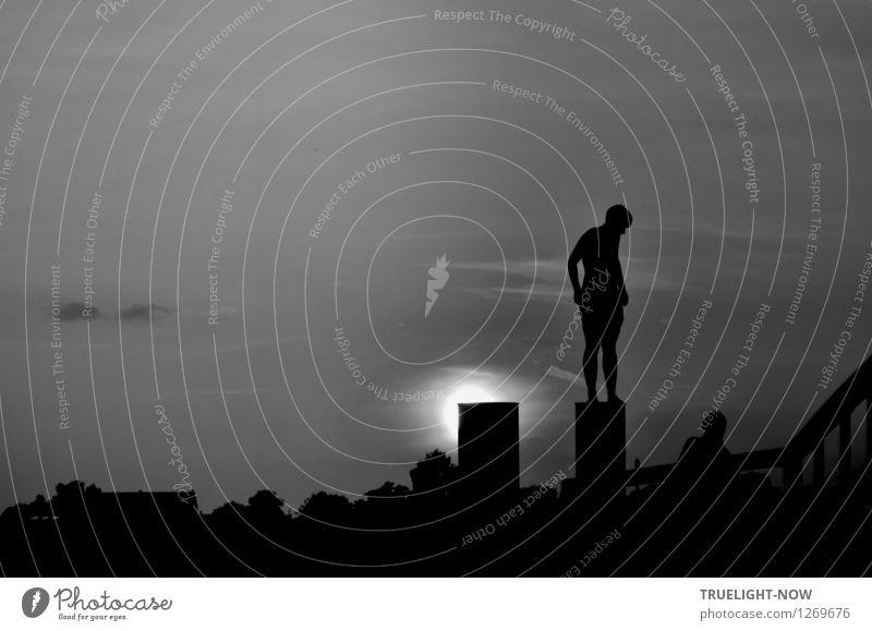 Der Tag geht... Spielen Abenteuer Flirten maskulin feminin Jugendliche Körper 2 Mensch 13-18 Jahre Kind Himmel Sommer Seeufer Fluss Havelsee Kommunizieren